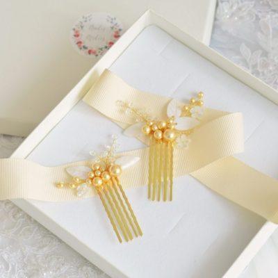 Złote kokówki Lilianna z perłami Swarovskiego