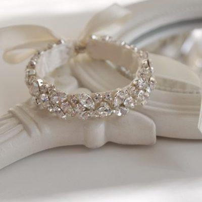 Lśniąca bransoletka z kryształków 10 mm