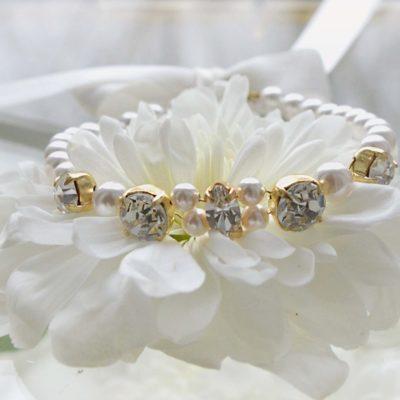 Bransoletka Rosa Gold z perłami Swarovskiego