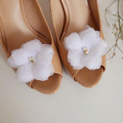 Klipsy do butów delikatne kwiaty