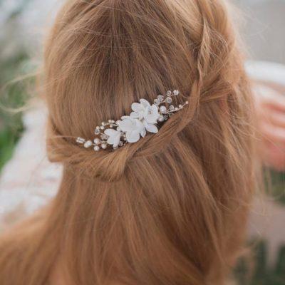 Delikatny grzebyk z kwiatkami Dalina