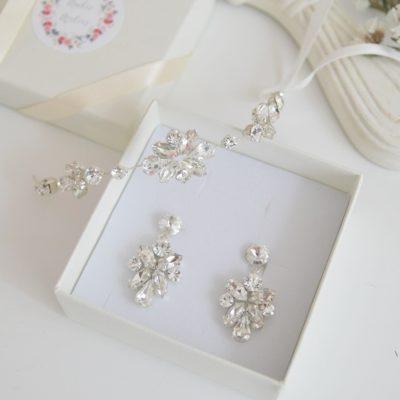 Komplet biżuterii kolczyki z bransoletką Ana