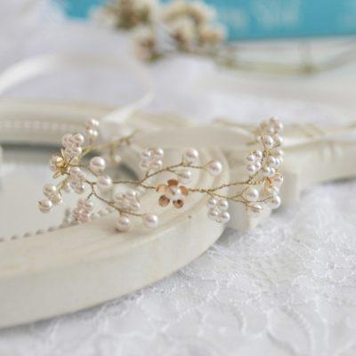 Romantyczna bransoletka z perłami Swarovskiego Lena