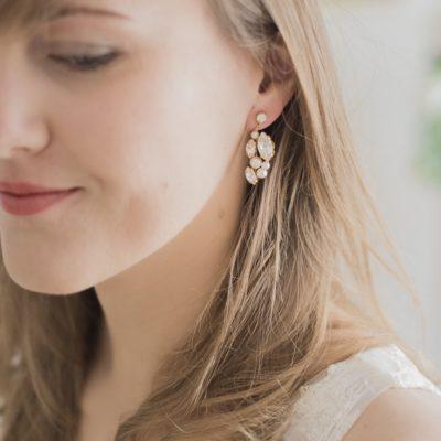 Kolczyki z perłami Swarovskiego Zoja
