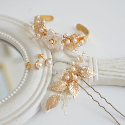 Komplet biżuterii Anastazja z kwiatkami